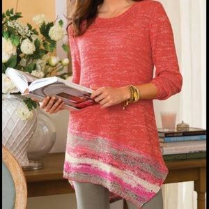 Soft Surroundings Martinique Tunic Knit Sweater